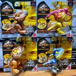 Jurassic World Camp Cretaceous Snap Squad Wave 7 Set of 4: T-Rex Velociraptor