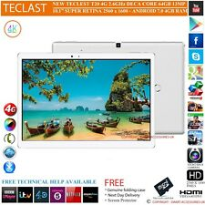 "TECLAST T20 4G DECA CORE 4GB RAM 64GB 10.1"" S RETINA 7.0 ANDROID PHONE TABLET PC"
