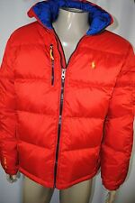 NWT MENS Polo Ralph Lauren Color-Blocked Quilted Trek water-proof down coat SZ L