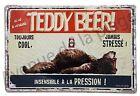 """Plaque vintage humoristique """"Ici vit un véritable Teddy Beer"""" idée cadeau NEUF"""