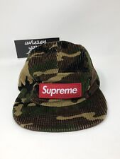 Supreme Camo Corduroy Camp Cap Hat woodland DS New in hand FW19