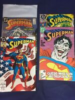 Superman 9,18,53 449,500. Copper Age, DC 5 Issue Lot.