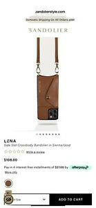 Bandolier Lena Side Slot Crossbody Case iPhone 12 ProMax With Expanded Zip Pouch