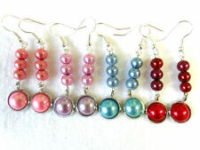 Acrylic Mixed Metals Round Costume Earrings