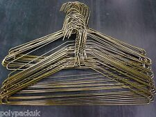"""20 Strong Bronze Plain Metal Wire Clothes Coat Hangers 40cm 16"""" 13G"""