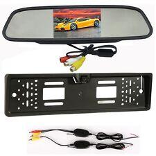 Telecamera Retromarcia Senza Filo Porta Targa Con 4.3'' LCD Display Specchio