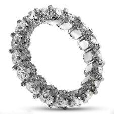 Diamond Eternity Ring 10.00 Carat Round Brilliant Cut 14k White Gold