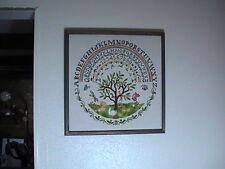 "Rare Advertising Display Elsa Williams ""Tree of Life Sampler"" Crewel Embroidery"