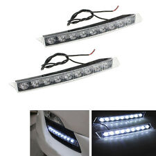 2x White 9 LED Daytime Running Light DRL Fog Driving Lamp for Audi C6 A6 S6 Q5