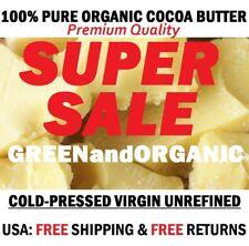 8 oz. Raw Unrefined COCOA BUTTER Pure Prime Pressed Cacao Premium Quality 1/2 Lb