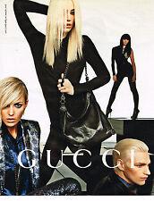 PUBLICITE ADVERTISING 094  2009  GUCCI   haute couture