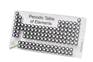 Periodic table of Elements, element collection case, chemistry set with labels