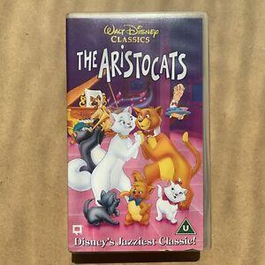 Walt Disney's The Aristocats VHS Video Cassette Retro 70s Musical Animation 1970