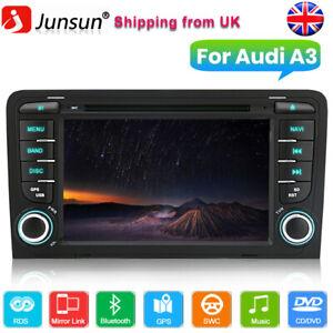 "GPS Sat Nav For Audi A3 2003-2012 S3 RS3 7""Car Radio Stereo DVD Player BT DAB+CD"