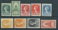 1923TG Nederland Koningin Wilhelmina NR.121-129 postfris, mooie zegels..