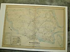 Bird/'s Eye View 1888 Wickford Rhode Island Vintage Style City Map 20x30