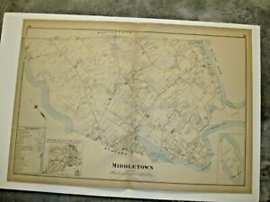 1895 MIDDLETOWN, RI., MAP REMOVED FROM THE EVERTS & RICHARDS ATLAS OF 1895
