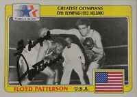 Floyd Patterson Signed Autographed Trading Card 1980 Olympics Boxing GV775686