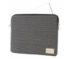 "HEX Canvas Sleeve Pouch Case for MacBook Air 11"" Retina & 12"" Black/White Stripe"
