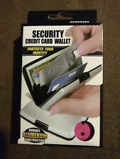 Pink Durable Aluminum Security Credit Card Wallet - Protects Your Identity NIB