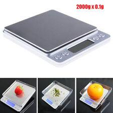 LCD MINI 0.1g x 2000g Jewelry Electronic Digital Balance Weight Scale New
