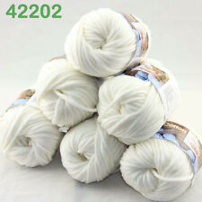 Sale 6Balls X 50gr Chunky Cotton Hand Knitting Yarn Smooth Special Soft Thick 02