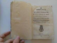1828 Ordenanzas de la Real Congregacion de Cristo Coronado de Espinas, Sevilla