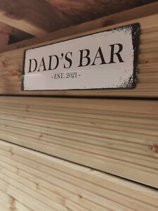 Any Personalised Name Words Sign Plaque Outdoor Garden Shed Den Bar Garage Shop