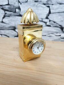 Park Lane Victorian Police Lantern Miniature Desk Clock Rare and Unique