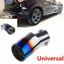Car Universal Stainless Steel Car Rear Round Exhaust Pipe Tail Muffler Tip 1pcs
