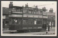 Tram Photograph postcard size Salford Corporation 1945 Manchester NOT A POSTCARD