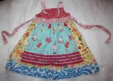 NWT Boutique Georgia Grace Gorgeous Ruffle Clothesline Apron Knot Dress 6 Yrs