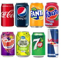 Vimto Fanta DrPepper 7up Coke Pepsi Red Bull Coke Coca Cola Soda Cans 24x330ml