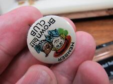 Member Brownbilt Brown Bilt Pinback Souvenir Pin (17j2)