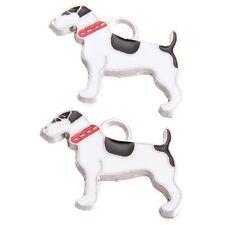 10pcs Rhodium Plated Black&White Enamel Alloy Dog Pendants Fit DIY Necklaces D