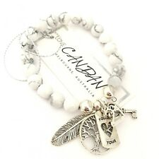 21st Birthday Key Friendship Bracelet Gift Angel Feather Follow Your Heart Charm