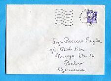 1988 CASTELLI IN BOBINA £.750 ISOLATO  su lettera per la GERMANIA  (259245)