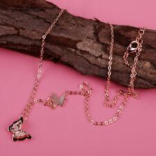 Rose Gold 2 Schmetterling Choker Halskette Titan Anhänger Pullover Kette 45CM