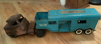 Vintage 1960's Structo Vista Dome Horse Van and unmatched vintage 1940/50's cab