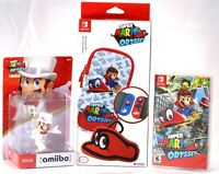 Super Mario Odyssey Game + Mario Amiibo Wedding + Case! Brand New Fast Shipping!