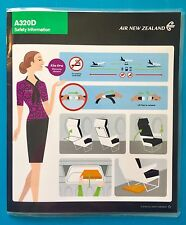 AIR NEW ZEALAND SAFETY CARD-- A320 DOMESTIC