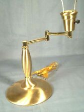 MID CENTURY MODERN BRUSHED BRASS SWING ARM VON NESSEN STYLE LAMP