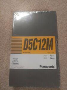 """Panasonic D5C12M AJ-D5C12MP XD 1/2""""Digital D-5 / D-3  Cassette:12/24 min NEW"""