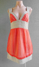 Women MANNING CARTELL Summer A-Line Dress Linen Silk Size S-M Buy7=FreePost L336