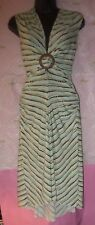 $78 XOXO XSMALL MULTI COLOR BUCKLE WAIST FUN DOT SUN DRESS RUCHED SIDES top