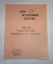 Datenhandbuch Ford Modelljahre 1950 - 1965 Änderungen der Ford Marken