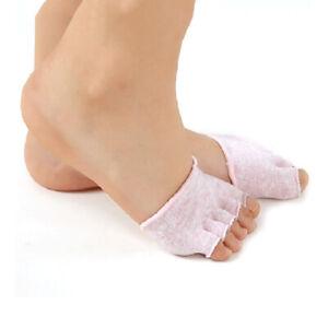 Cotton Socks Women Invisible Gym Non Slip Toe Half Grip Heel Five Finger Sock Fb