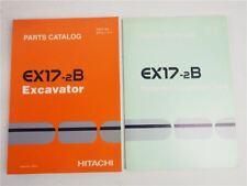 Hitachi EX17-2B Excavator and Equipment Parts List Ersatzteilliste in engl. 2000