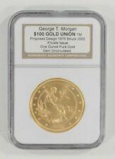 2005 George T. Morgan Proposed $100 Gold Union 1 Oz. .999 Fine Gold Gem Unc Box