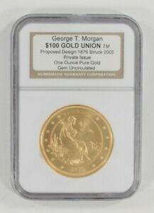 2005 George T. Morgan Proposed Gold Union 1 Oz 999 Fine Gold Gem Unc Box